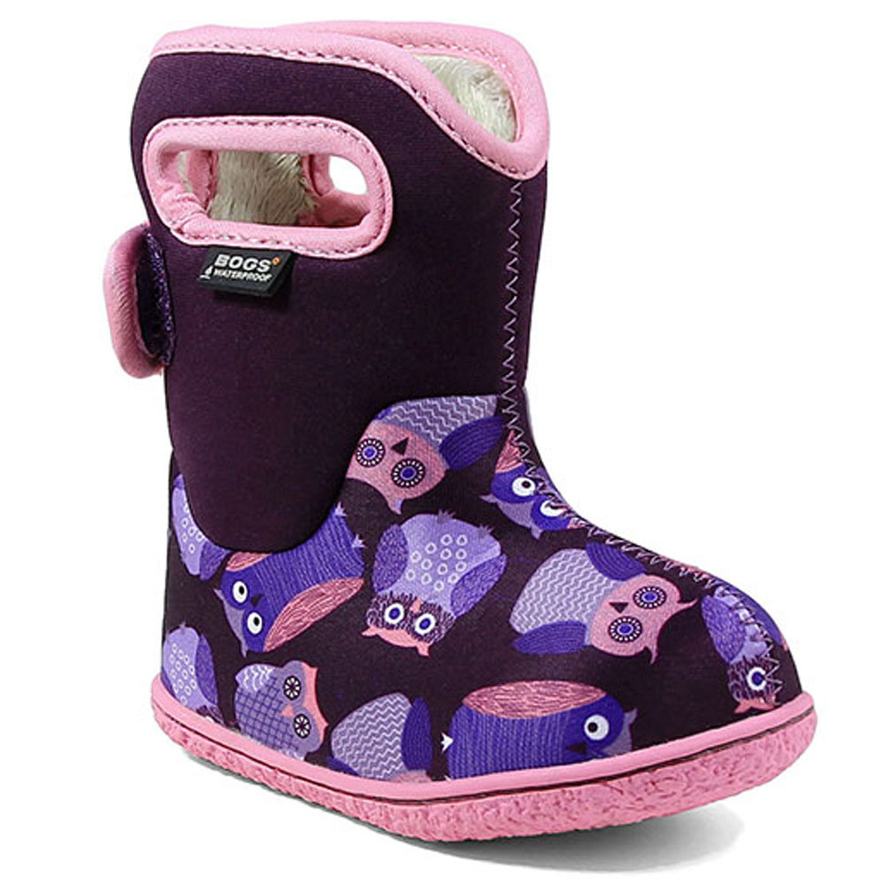 Baby Bogs Owls - Purple<br><span style='color: rgb(230, 0, 0);'>SIZE EU26 ONLY</span>