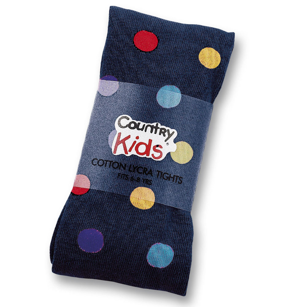 Tights - Polka Dot - Navy