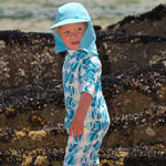Sposh Sunsuit - Capri-Blue Fishies
