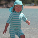 Sposh Sunsuit - Capri/Turquoise/Blue