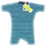 Sposh Sunsuit - Navy/Turquoise