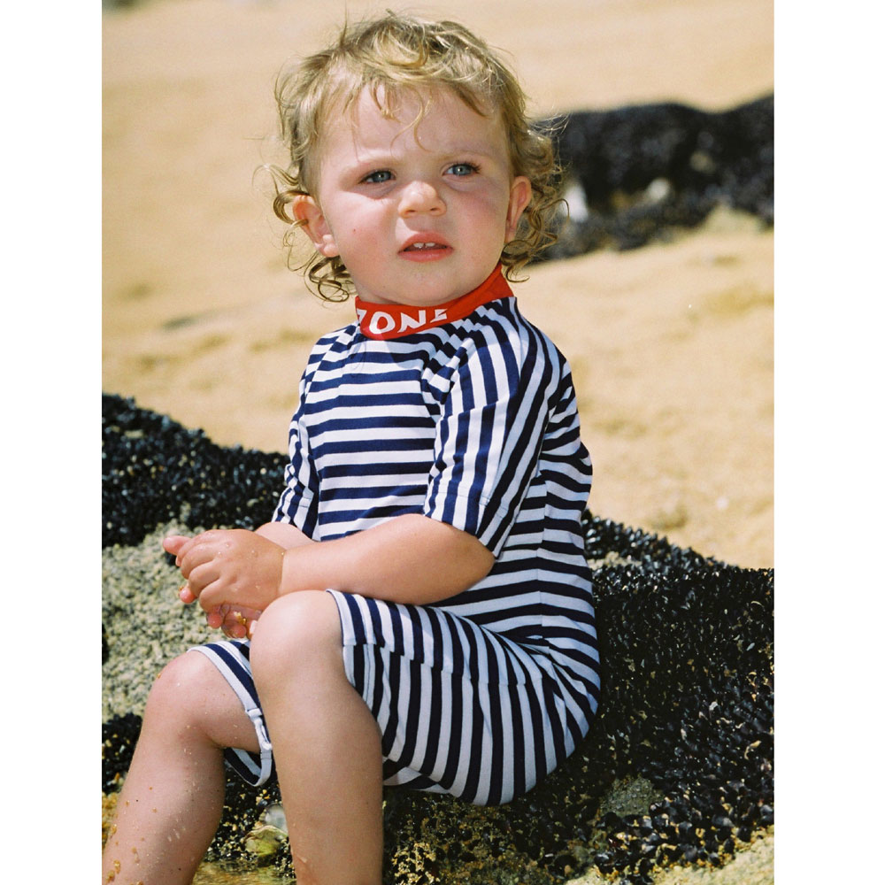 Sposh Sunsuit - Navy/White/Red
