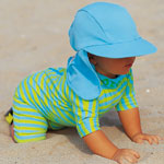 Sposh Sunsuit - Turquoise/Lime