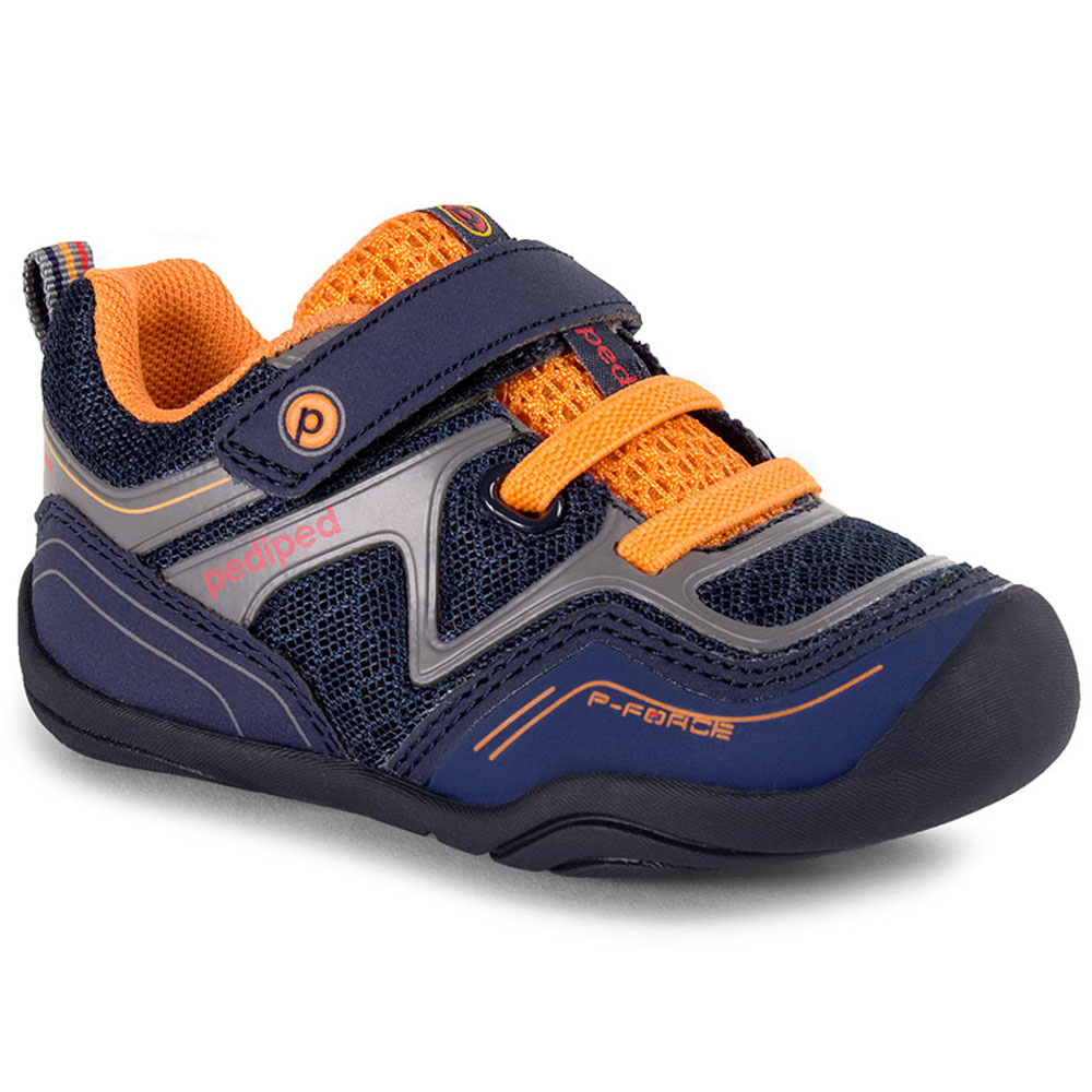 Pediped GG2338 Force - Navy/Orange<br><span style='color: rgb(230, 0, 0);'>CLEARANCE</span>