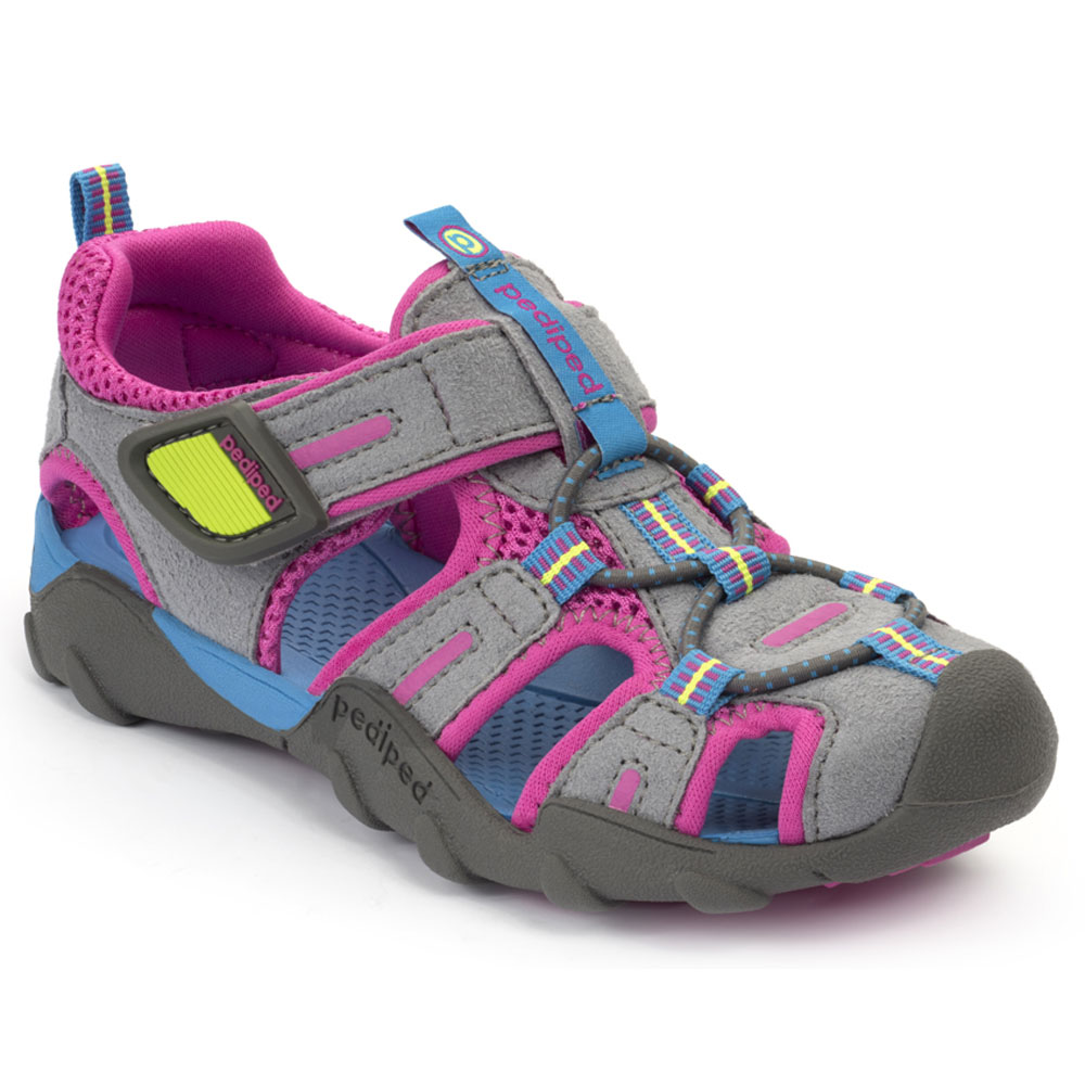 Pediped Canyon - Charcoal/Pink<br><span style='color: rgb(230, 0, 0);'>SALE</span>