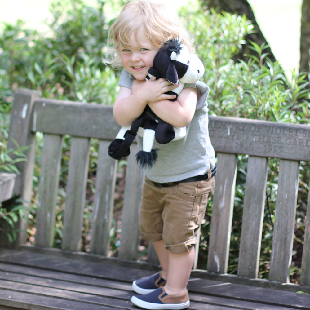Toddler Backpack+Reins - Dusty the Cow