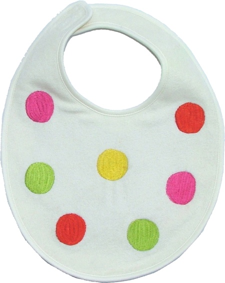 Cream Dots Bib