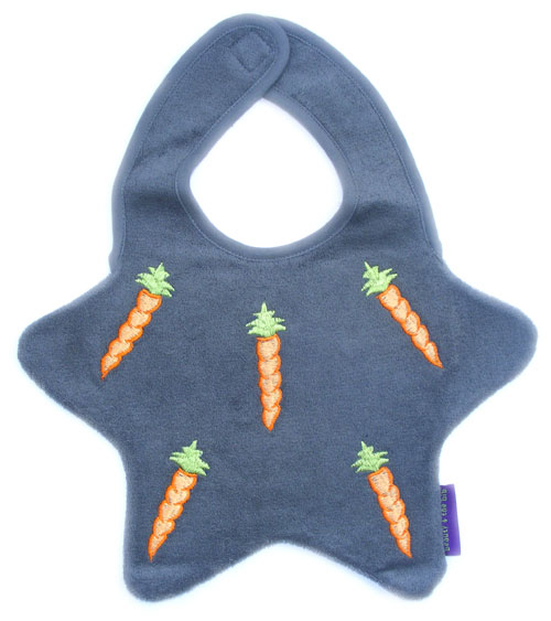 Star Bib - Grey / Carrots