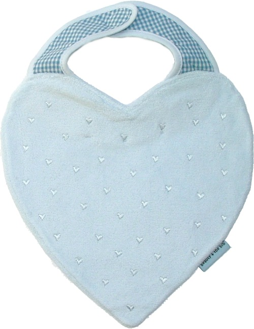 Hearts Bib - baby blue<br><span style='color: rgb(230, 0, 0);'>Buy Any 2+ Get 10% OFF</span>
