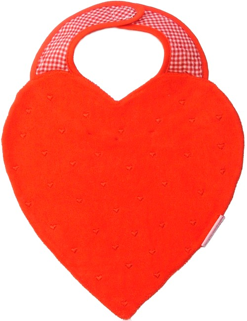 Hearts Bib - red