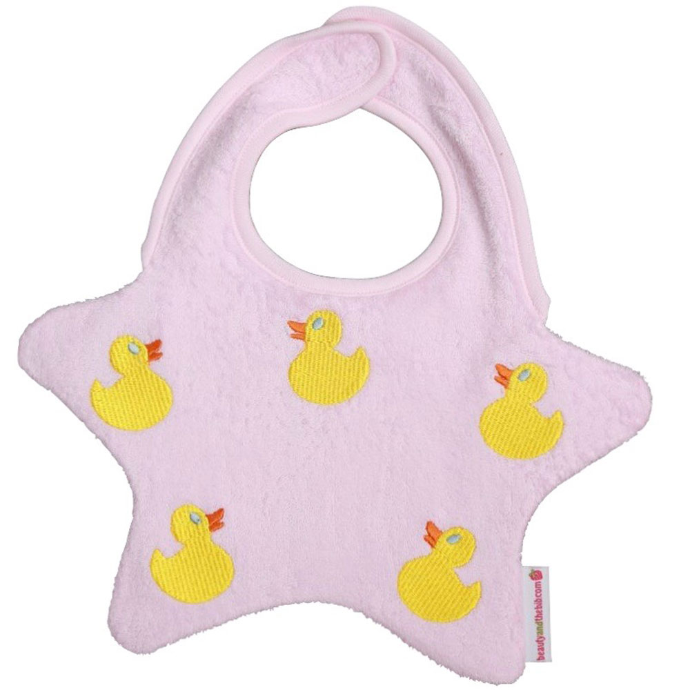 Star Bib - Pink / Ducks<br><span style='color: rgb(230, 0, 0);'>Buy Any 2+ Get 10% OFF</span>