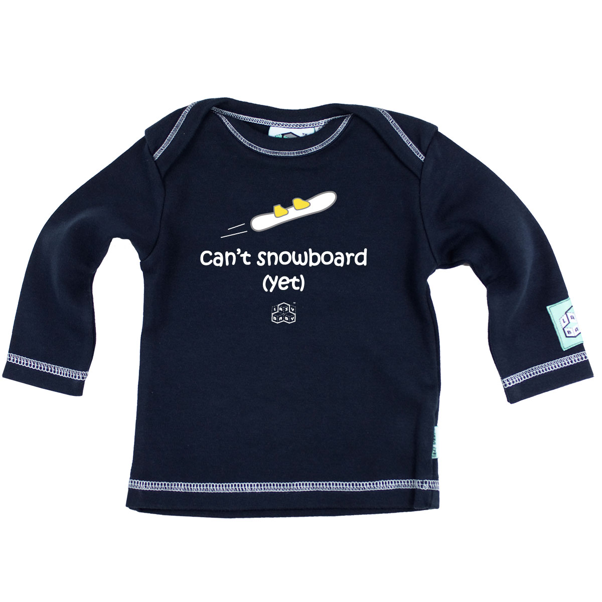 Lazy Baby Can't Snowboard (Yet) - Navy<br><span style='color: rgb(230, 0, 0);'>CLEARANCE</span>
