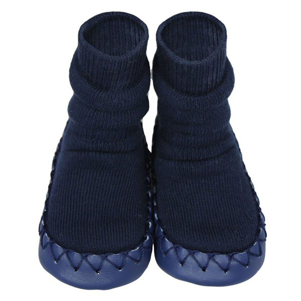 Moccis - Navy Moccasins