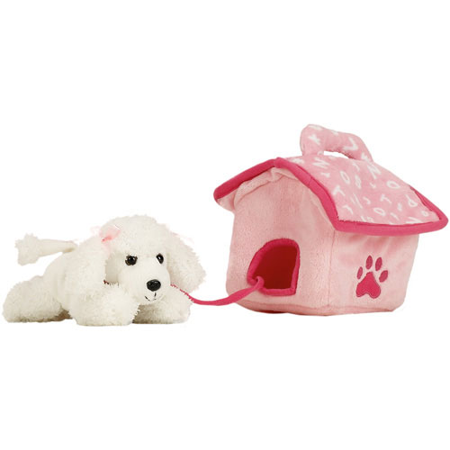 Kennel with White Poodle Puppet
