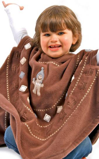 Poncho - Chocolate<br>STOCK CLEARANCE