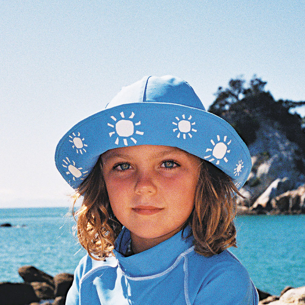Sposh Sun Hat - Sky Blue/White