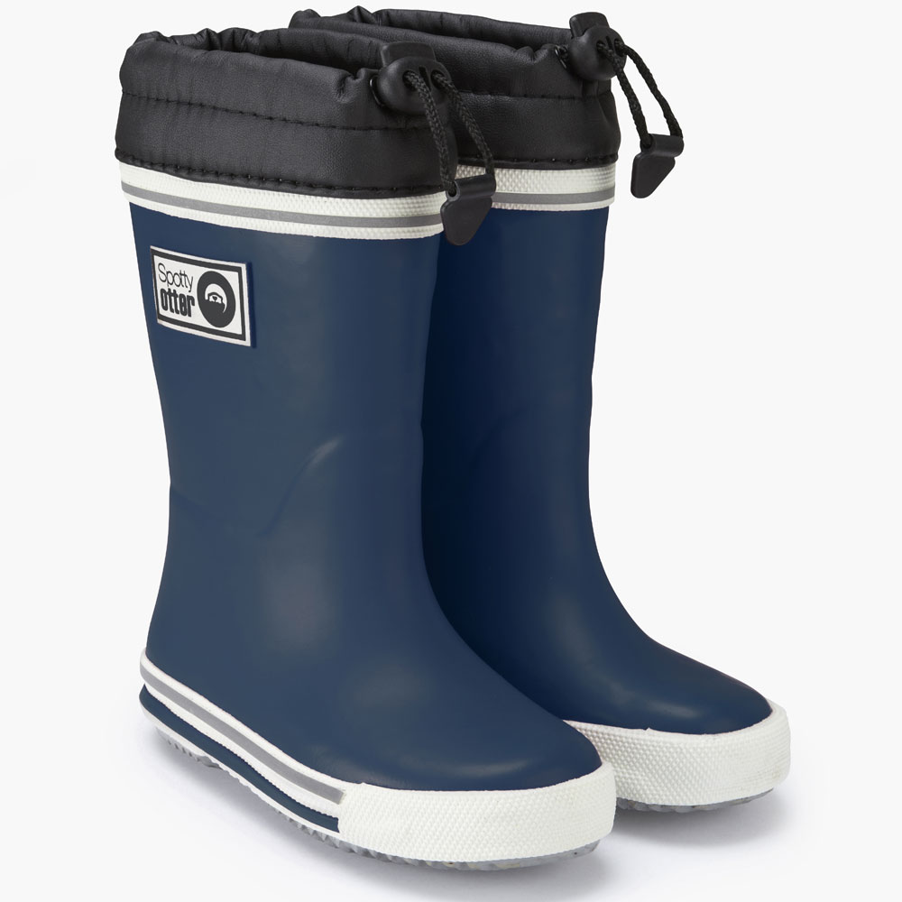 Spotty Otter Wellies - Navy<br><span style='color: rgb(230, 0, 0);'>FREE BOOT BAG</span>