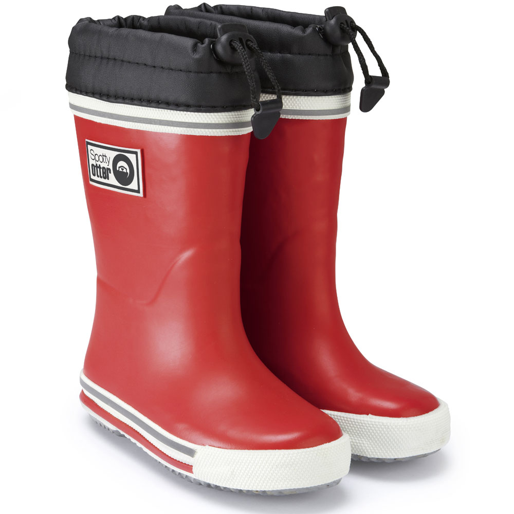 Spotty Otter Wellies - Red<br><span style='color: rgb(230, 0, 0);'>FREE BOOT BAG (RRP £5.00)</span>